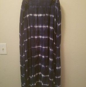 Merona Blue/White Maxi Skirt